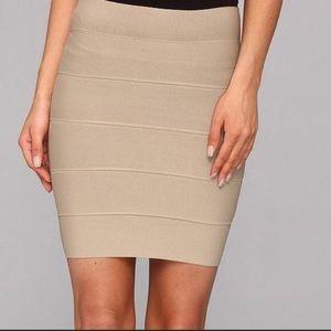 BCBG MAXazria beige bandage skirt